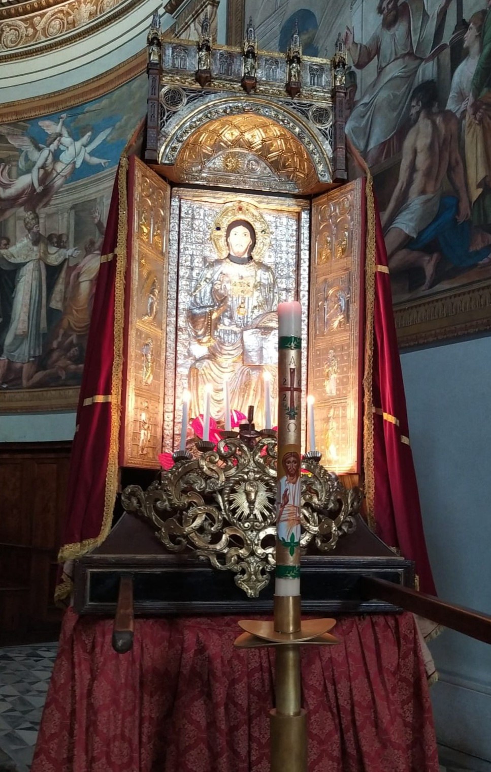 Il Trittico del Santissimo Salvatore esposto in Cattedrale
