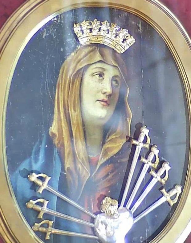 Esposta l'immagine dell'Addolorata in Duomo fino a domani 15 settembre